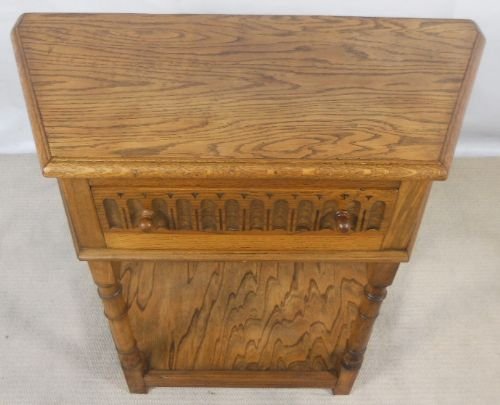 Antique Jacobean Style Light Oak Side Table